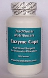 Enzyme Caps 180 caplets - enzymes to speed up digestion and protect the digestive tract from the irritation caused by gastric distress. A combination of Betaine Hydrochloride, Pepsin, Pancreatin, Bile Salts, Papain and Bromelain.