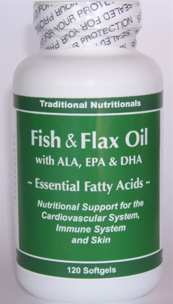 Fish flax oil with epa dha cardiovascular immune support for Flaxseed oil or fish oil