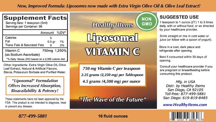 LIPOSOMAL VITAMIN C 16 fluid ounces